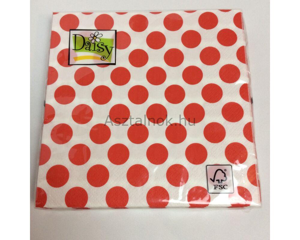 Piros fehér pöttyös papírszalvéta d7bfdeb89a