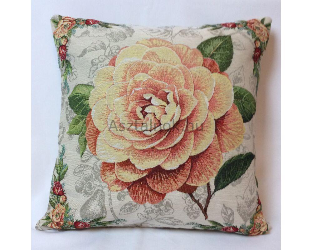 Sárga rózsa párnahuzat - Rózsa románc - Asztalterítő 5c6e0912ae