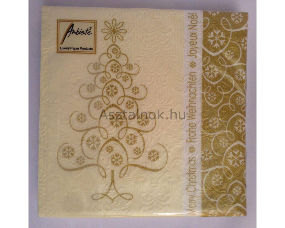 karácsonyi arany mintás szalvéta 391282c14c