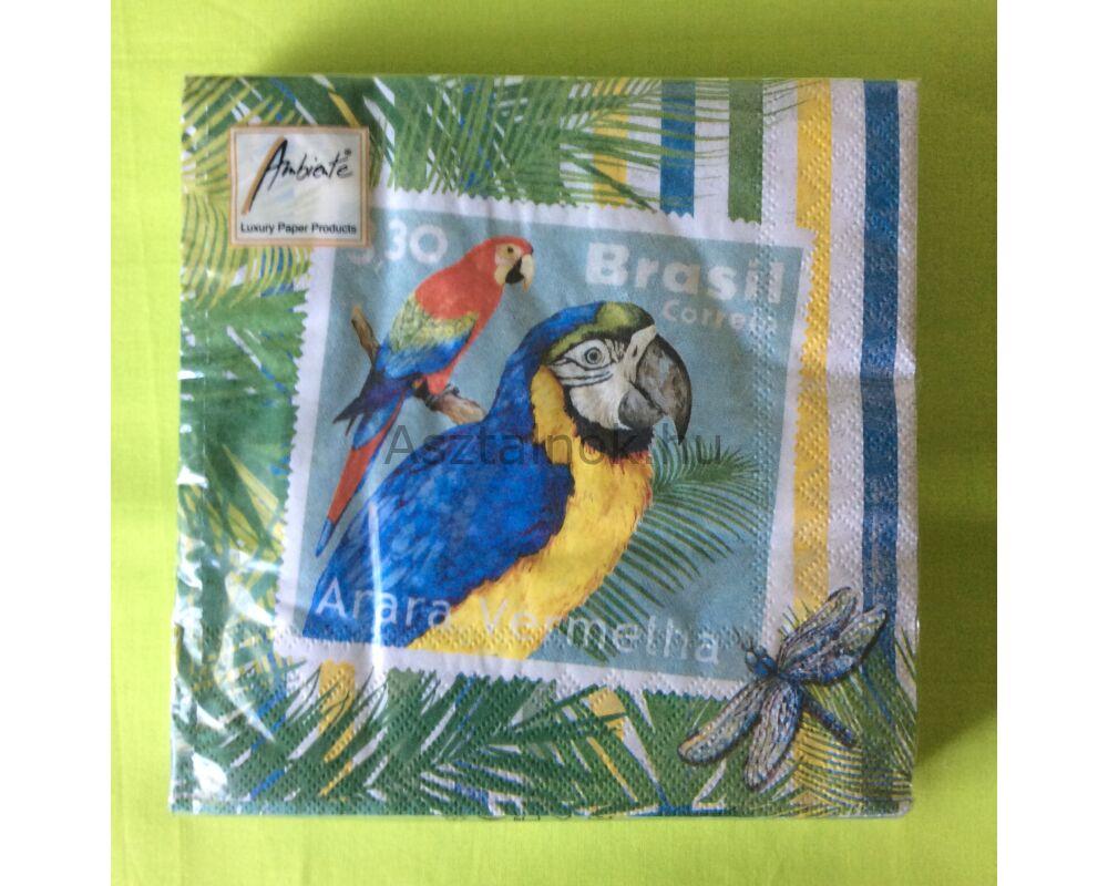 Papagáj mintás papírszalvéta 3260487851