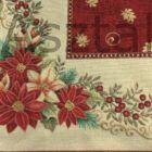 Mikulásvirág asztalközép terítő