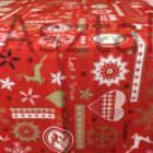 Advent asztali futó piros