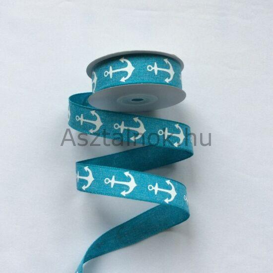 Vasmacska dekor szalag türkiz