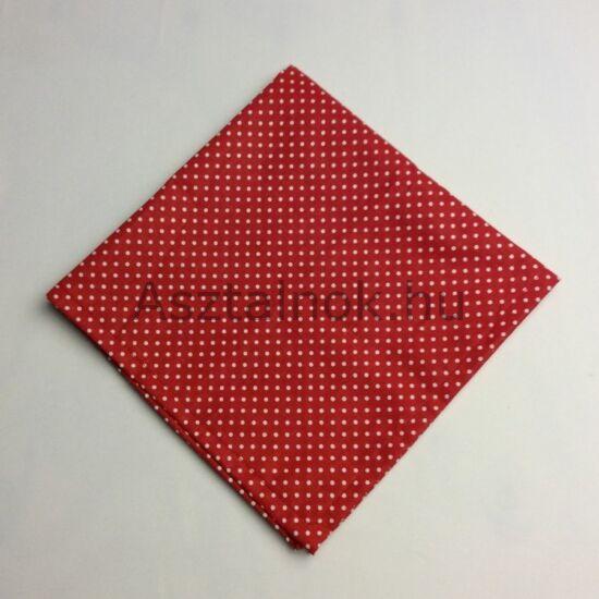Piros fehér pöttyös textil szalvéta