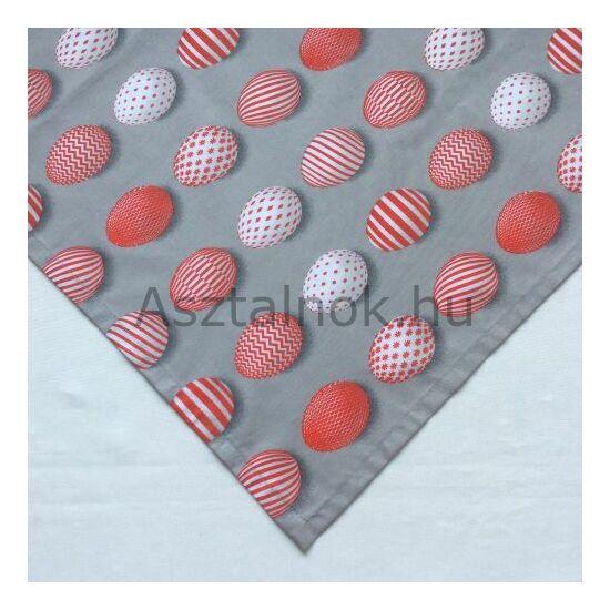 Piros tojás asztalközép terítő