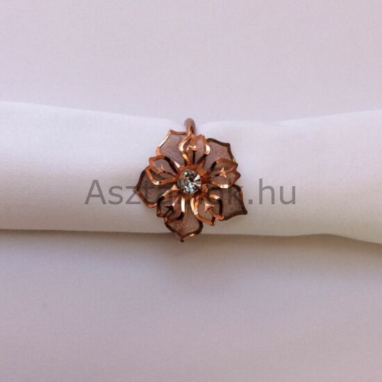 Mikulásvirág rosegold szalvétagyűrű készlet