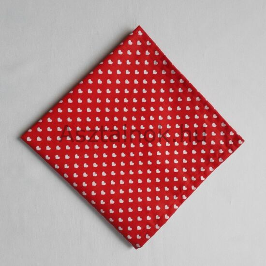 Szívecske textil szalvéta
