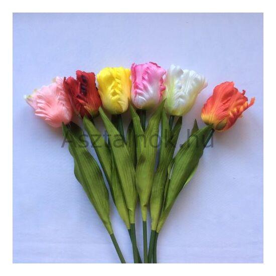 Tulipán selyemvirág csokor