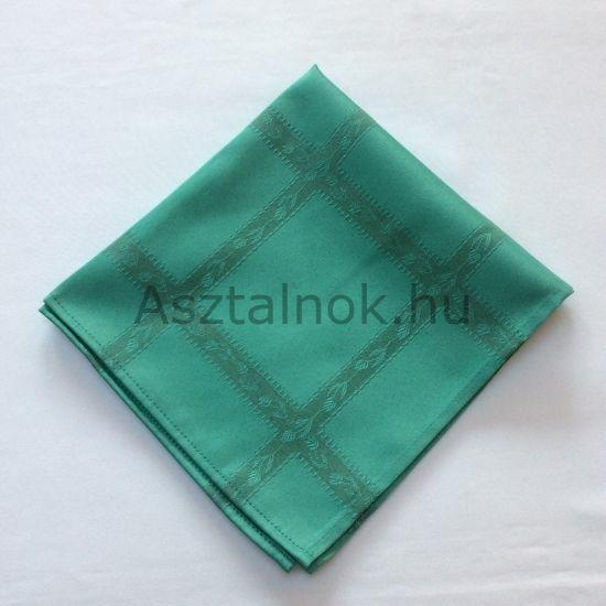 Türkiz zöld indák textil szalvéta