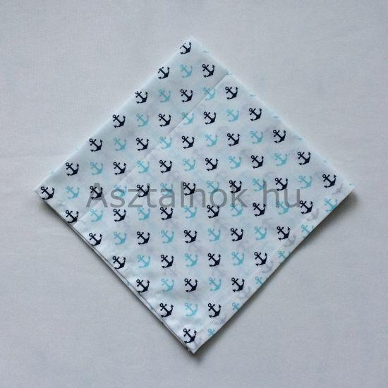 horgony mintás textil szalvéta