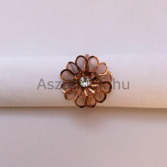 Dália rosegold szalvétagyűrű készlet