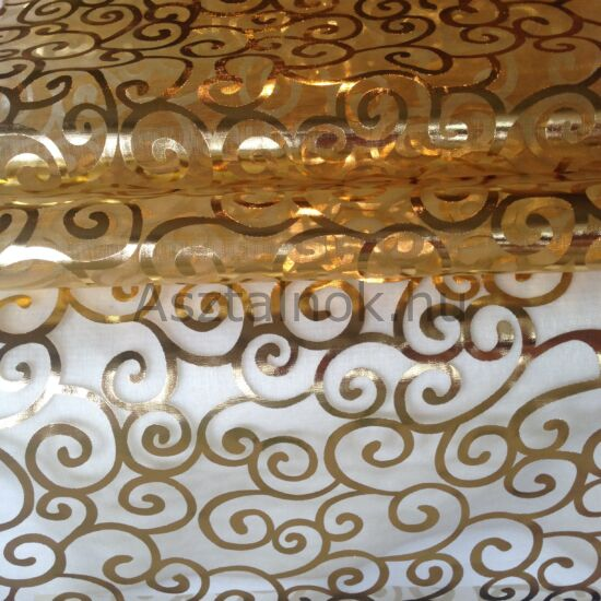 Angyalhaj organza asztali futó arany