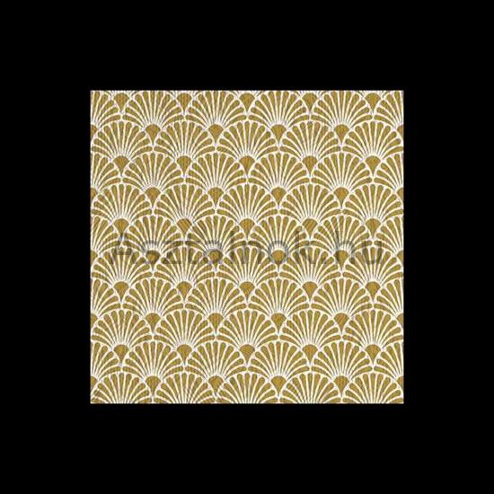 Elegance art deco arany ünnepi szalvéta