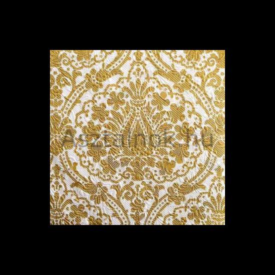 Elegance barokk arany fehér ünnepi szalvéta