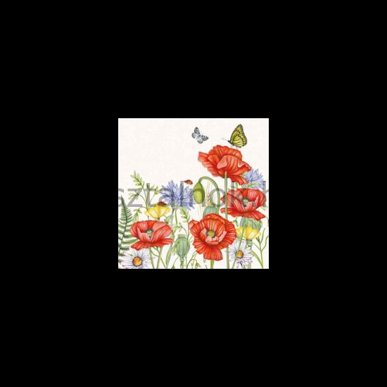 Pipacs mintás papírszalvéta - Asztalnok Webáruház b07768112c