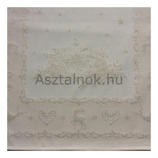 Rénszarvas asztali futó ezüst lurex