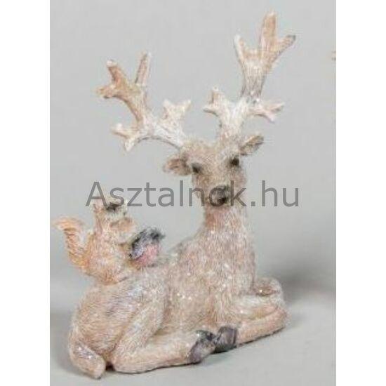 Erdei mese karácsonyi dekor figura