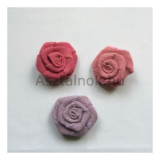 Színes juta virág dekorációs csomag