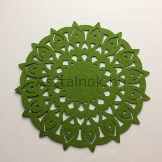 Mandala filc tányéralátét mohazöld