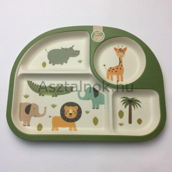 Szafari gyerek tányér
