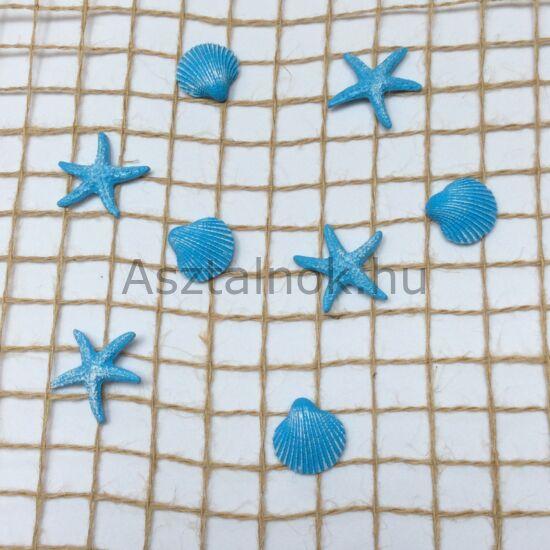 Kagyló dekoráció készlet kék