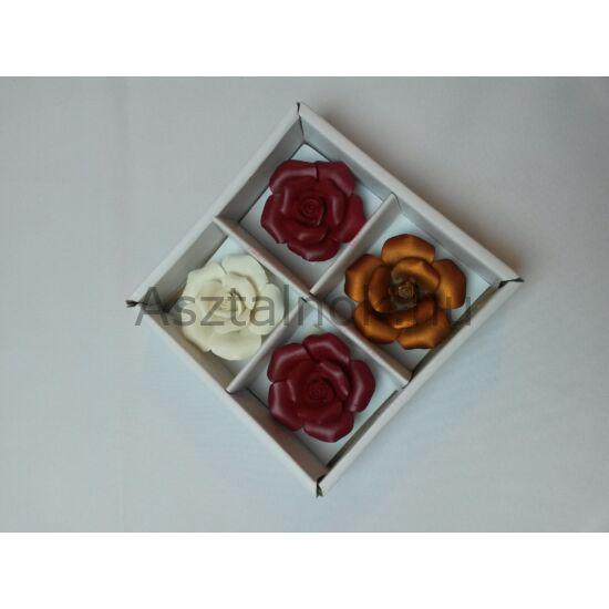 Kerámia rózsa dekoráció szett