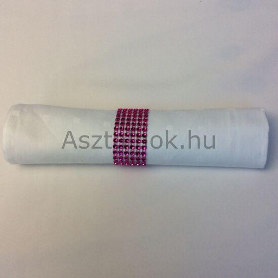 Strassz szalvétagyűrű készlet pink