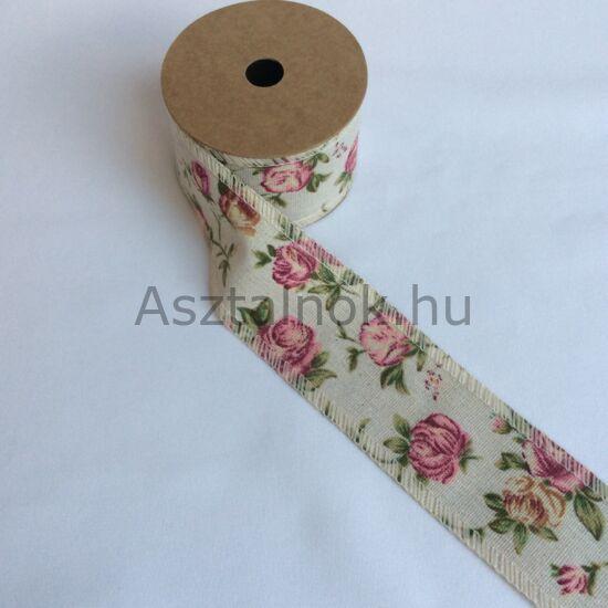 Rózsakert textil szalag
