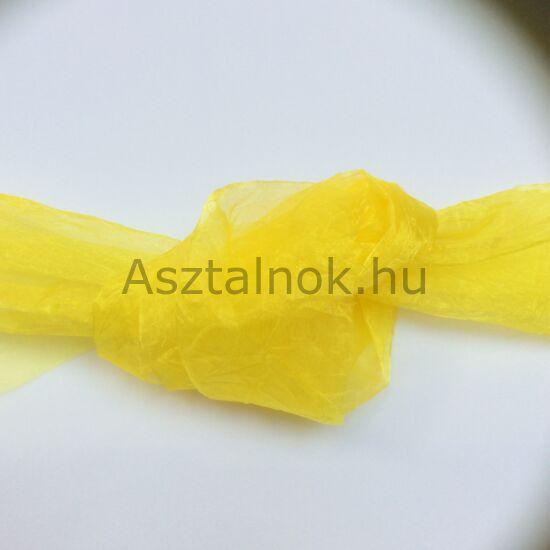 Sárga organza asztali futó
