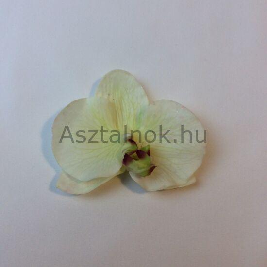 Orchidea dekorációs virágfej fehér