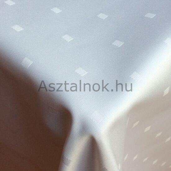 Hófehérke damaszt asztalterítő