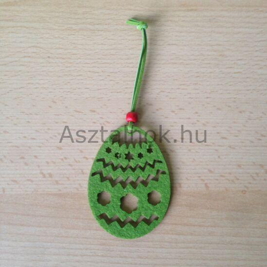 Filc tojás dekoráció