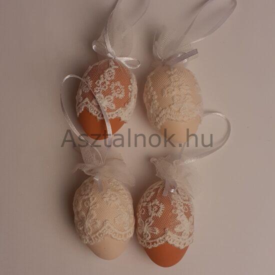 Csipkés dekor tojás készlet