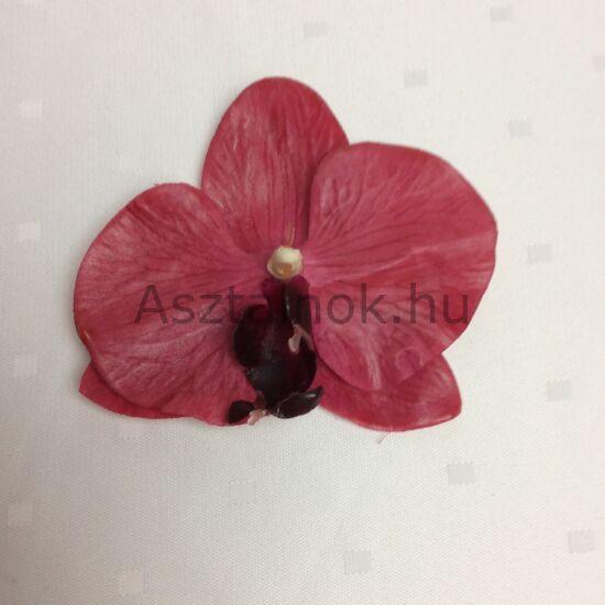 Orchidea dekorációs virágfej pink