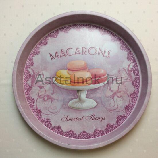 Macaron fém  tálca