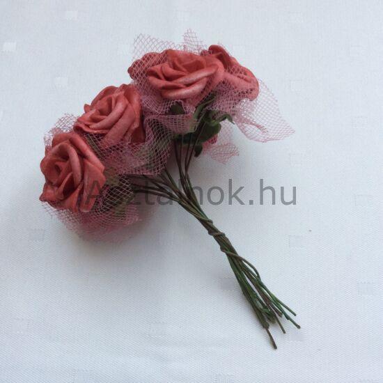 Mályva rózsacsokor dekoráció