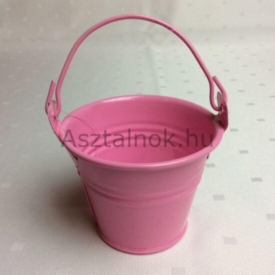 Mini vödör dekoráció rózsaszín