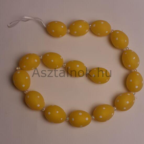 Sárga tojás girland dekoráció
