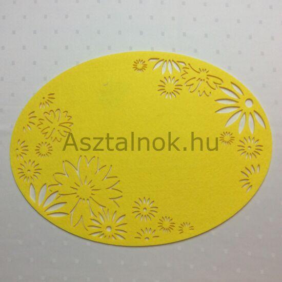 Sárga filc tányéralátét