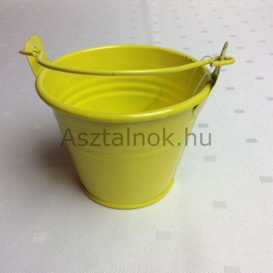 Mini vödör dekoráció sárga