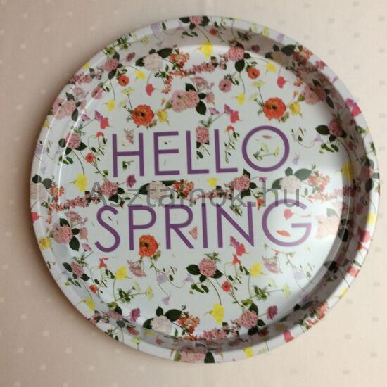 Tavaszi hangulat fém tálca