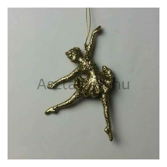 Arany balerina karácsonyfadísz