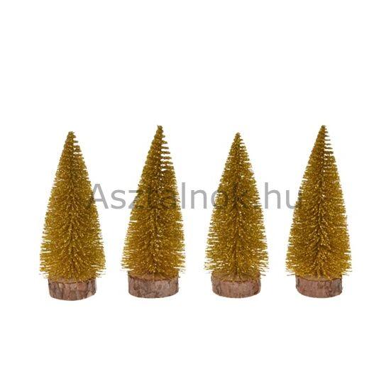 Arany mini fenyőfa dekoráció készlet