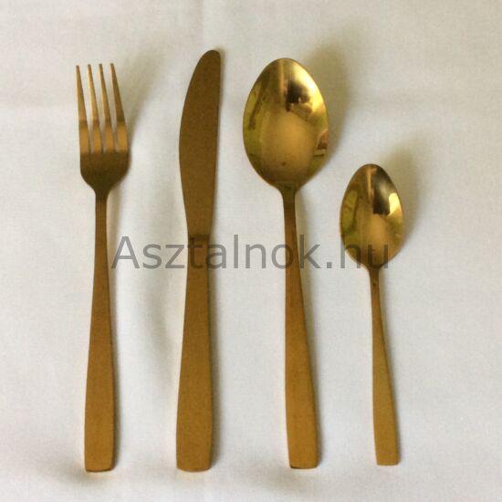 Royal arany színű evőeszköz készlet