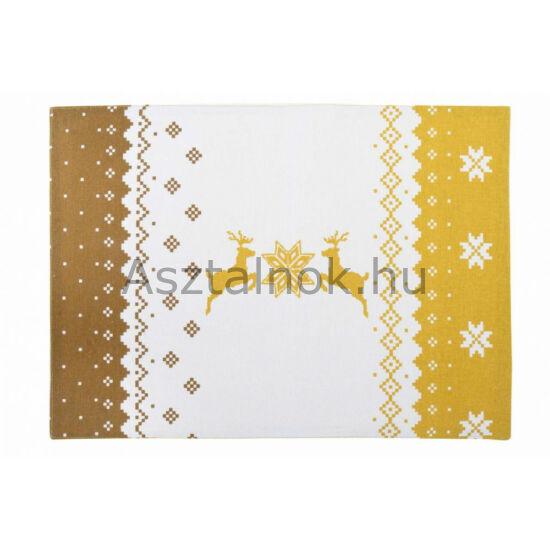 Arany szarvas textil tányéralátét