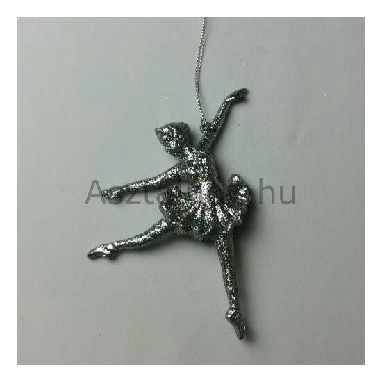 Ezüst balerina karácsonyfadísz
