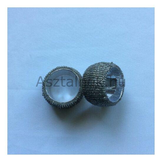 Ezüst gyöngyös szalvétagyűrű készlet