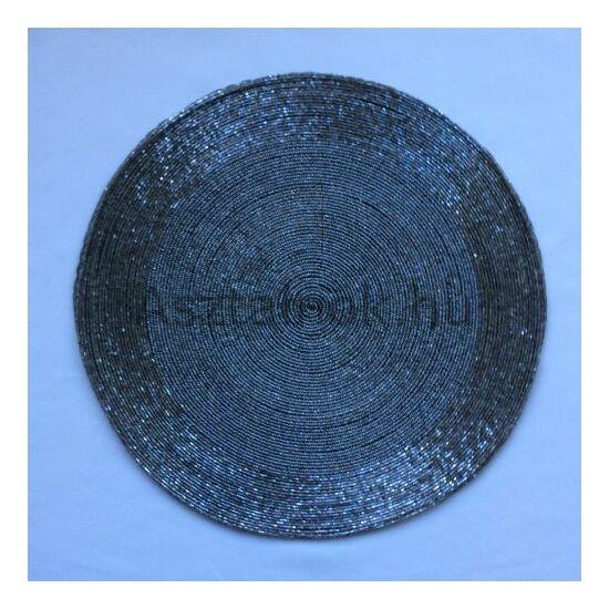 Ezüst gyöngy tányéralátét