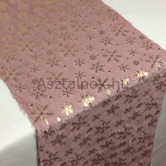 Hópihe szőrme asztali futó mályva színű