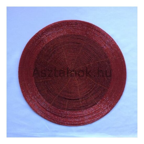 Piros gyöngy tányéralátét